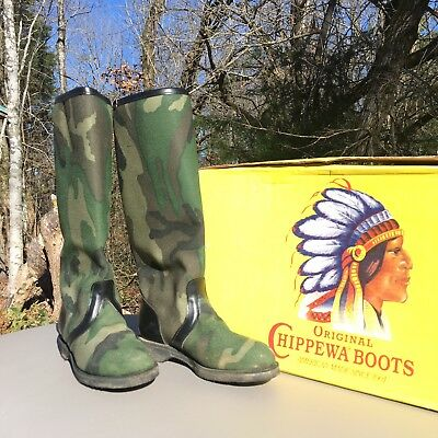 3121948225 CHIPPEWA CAMOUFLAGE SNAKE proof boots - $120.00 | PicClick
