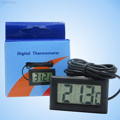 A5C0 Black Digital Fish Tank Thermometer Temperature Meter With Waterproof Probe