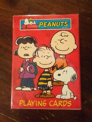 New unopened peanuts playing cards