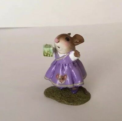 Wee Forest Folk SPECIAL Girl W/ Mouse Embellishment Purple Limited