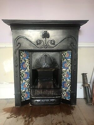 Vintage Late Victorian/Early Edwardian Cast Iron Fireplace - Biclam No.10