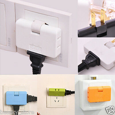 3 Outlet Grounded AC Power Copper Alloy 2 Prong Swivel Light Wall Tap Adapter I