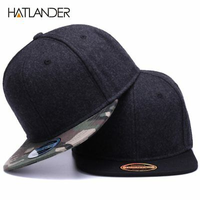 High quality Wool snapback caps plain camouflage baseball cap and hat