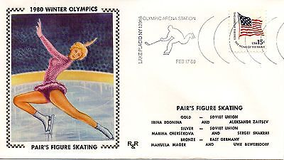 Us Event,1980 Winter Olympics, Paar Figur Skatig, R & R (5237)