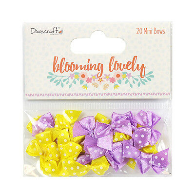 Dovecraft 'Blooming Lovely' Mini Bows *Free UK P+P*