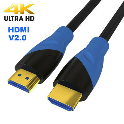 and Video V2.0 HDMI Cable AV Cord 3D 4K For Laptop HDTV PS3 PS4 XBox Projector