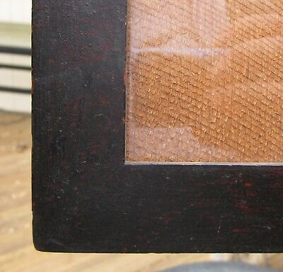 Decorative Arts Hard To Find 1850s Oxblood Red Grain Painted American Folk Picture Frame Wow!!