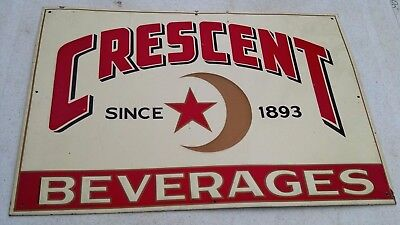 vintage Crescent, Beverages metal emboss sign