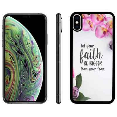 Christ Bible Verse Flower Phone Case Cover For iPhone 6 6s 7 8 plus X Xr Xs max