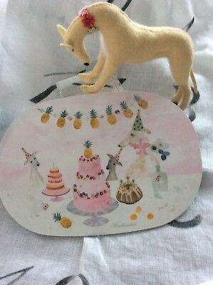 Greyhound/Whippet Felted Figurine & Breakfast Board Gift Bundle