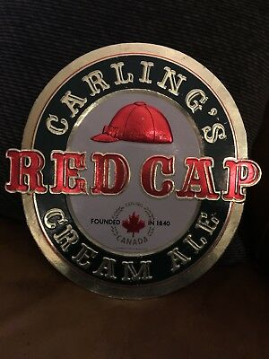 Vintage Canadian Red Cap Imported Cream Ale Carling Breweries Baltimore Bar Sign