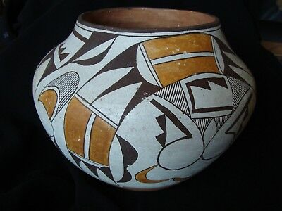 "Vintage 1940's-50's Acoma Pot BEAUTIFUL! Nice Ring! 7-1/2"" Tall x 9"" Dia. EXC!"