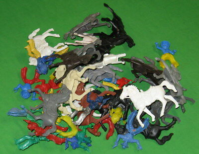 Huge Lot Of Mounted Lido Cowboys, Indians And Horses..............