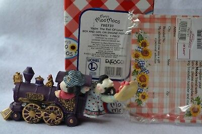 "Mary's Moo Moos Lionel Train ""ridin' The Rail Of Love"" Resin Figurine"