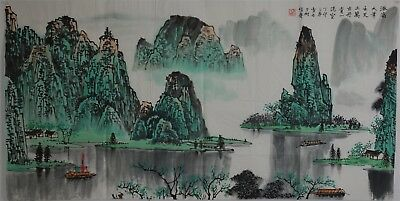 Fine Large Chinese Painting Signed Master Bai Xueshi No Reserve Unframed R1827