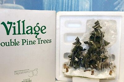 """Department 56 Accessories """"Double Pine Trees"""" NEW"""