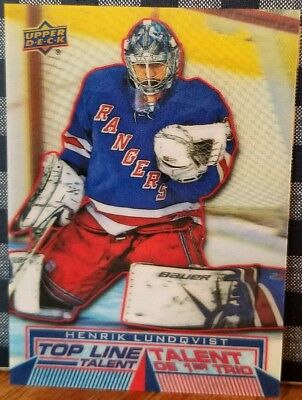 2018-19 Upper Deck Tim Hortons Henrik Lundqvist Top Line Talent # TLT-11 (18-19)