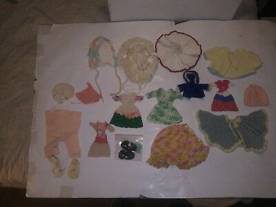 Lot of  Antique & Vintage small doll. clothing hand sewn