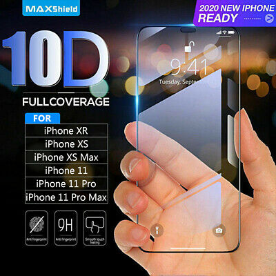 2019 Curved Guard 10D Tempered Glass Screen Protector Film For iPhone XR XS Max