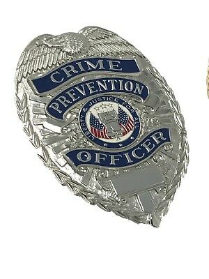 Crime Prevention Officer Sill-Tone Badge