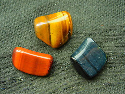 *3* Mixed Tigereye Crystal Healing Stones L8
