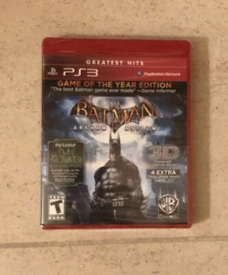 Batman Arkham Asylum PlayStation 3 Greatest Hits Game of the Year Edition