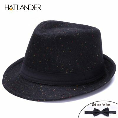 Retro Gentleman panama fedora hat mens Jazz billycock cap outdoor