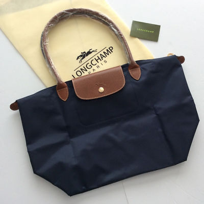 NEW Longchamp Le Pliage Blue tote bag Large L