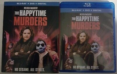 The Happytime Murders Blu Ray Dvd 2 Disc Set + Slipcover Sleeve Free Shipping