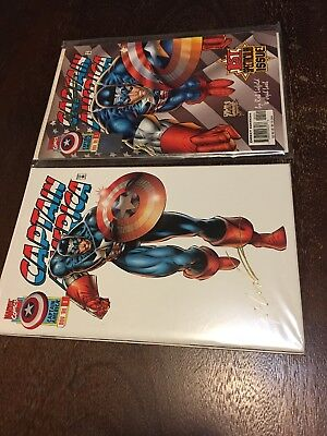 CAPTAIN AMERICA 1 22karat GOLD SIGNED +WIZARD LIEFELD SIGNED COAs #509/2100
