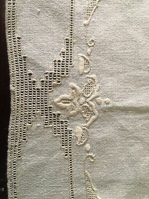 Antique Vintage Hand Embroidered Place Mats Italian Church Linen