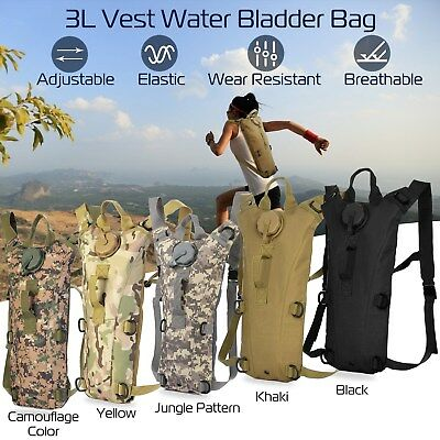 Military Hiking Camping 3L Water Bladder Bag Hydration Backpack Camelbak Pack