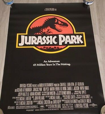 NRMINT C9 ROLLED!!! ORIGINAL Jurassic Park 1992 27x40 DS Movie Poster Dinosaur
