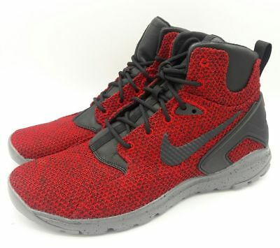 hot sale online c3b41 ac4ba Nike Koth Ultra Mid KJCRD Knit Boots Red Grey Black  819681-600