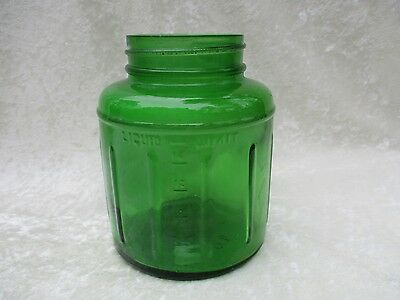 Vintage Bug/Insect Pump Insecticide Sprayer Round Green Glass Jar
