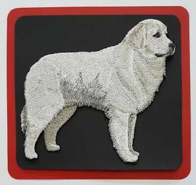 """Great Pyrenees Dog  Embroidered Patch  5.2"""" x 4.8"""""""