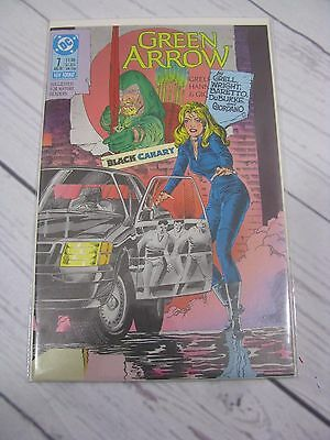 Green Arrow #7 (Aug 1988, DC) Black Canary Bagged and Boarded - C479