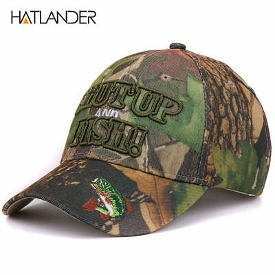 Outdoor camouflage caps summer sun fishing hat sport curved casquette
