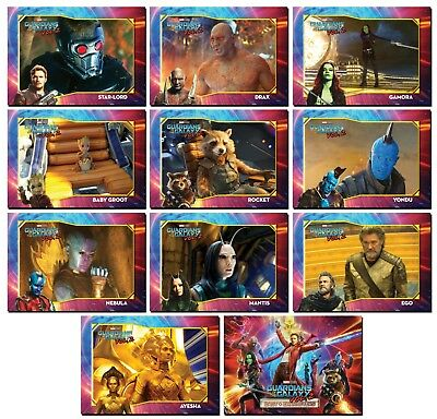 GUARDIANS OF THE GALAXY Vol. 2 - 11 Card Promo Set - Cast & Characters - Groot