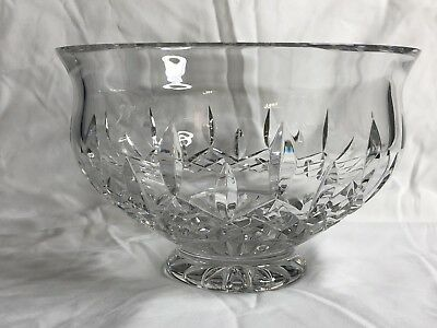 Waterford Crystal Lismore 8 Inch Footed Bowl~ Ireland Centerpiece, serving bowl
