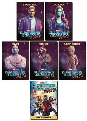 GUARDIANS OF THE GALAXY Vol. 2 - 6 Card Promo Set - Biographies - Star-Lord Drax