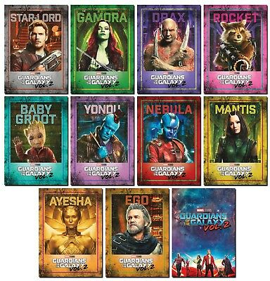 GUARDIANS OF THE GALAXY Vol. 2 - 11 Card Promo Set - Star-Lord Groot Gamora