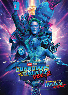 GUARDIANS OF THE GALAXY Vol. 2 - Promo Card 3 - Baby Groot Drax Star-Lord Gamora