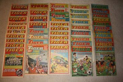 48 Vintage Tiger Comics...1977-1984....Various Issues