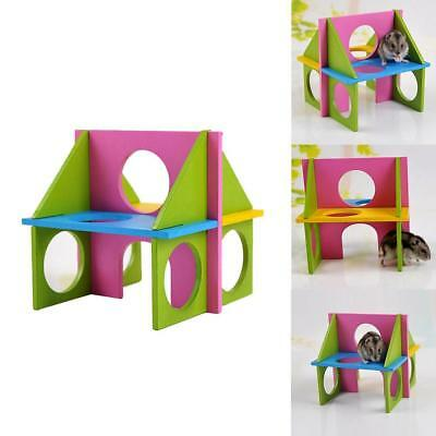 Small Animals Rat Hamster Wooden Fun Gym Playground Exercise Safety Toys