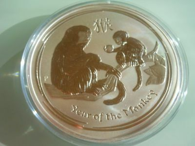 Perth Mint Lunar Year Of The Monkey 2016 10 Ounce Silver .999
