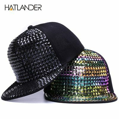Personality sequins baseball caps flat brim outdoor hats girls boy