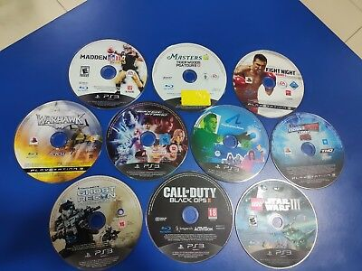Lot of 20 Games - AS IS - ONLY DISCS - Playstation 3 - PS3 - Untested