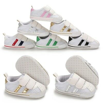 Newborn Baby Girls Boy Mesh Sport Breathable First Walker Soft Sole Casual Shoes