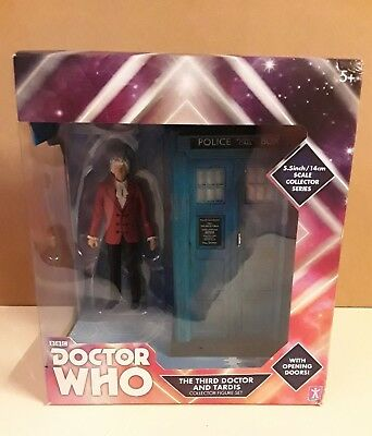 RARE Doctor Who -  Third Doctor and TARDIS - Exclusive B&M Figure.
